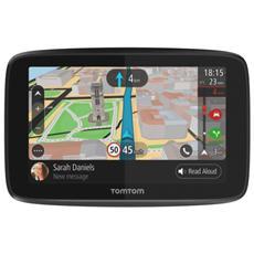 """Navigatore GPS GO 5200 Display 5"""" Memoria 16 GB Tutta Europa con aggiornamento gratuito a vita GPS Bluetooth e WiFi Nero e Grigio"""