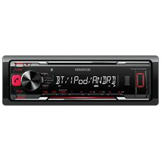 Sintolettore KMM-BT203 con Bluetooth Potenza 4 x 50 W Supporto WMA / MP3 / WAV / FLAC / AAC / USB / AUX-IN / Smartphone Android / iPod Nero