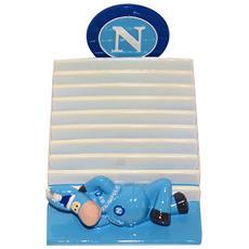 Ssc Calcio Napoli Porta Cd Da Tavolo In Ceramica Con Mascotte E Logo