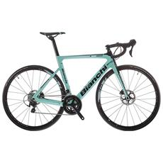 Bici Corsa Bianchi Aria Disc - 105 11v Compact - Ck16 - Nero - Bianco Lucido