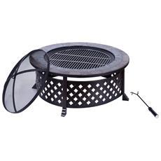 Braciere Barbecue Da Giardino Con Coperchio E Attizzatoio
