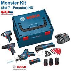 Monster Kit Set 7 (gsb 12v-15 + Gdr 12v-105 + Gsa 12v-14 + Gop 12 V-li + Gli 12v-80 + 3 X 2,0 Ah + L-boxx 238)