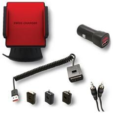 SCA30001, micro USB, mini USB, Maschio / femmina, Nero, Rosso, smartphone