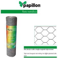 Rete zincata a caldo a maglia esagonale tripla torsione 1x25 Mt 50x4 N