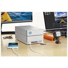 2big Dock Thunderbolt 3 16TB 16000GB Scrivania Argento array di dischi