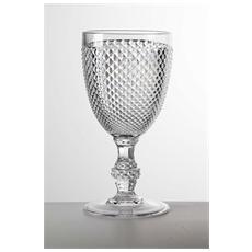 Bicchiere Crystal Calice Acrilico Ø 8,7cm H 18 Cm - 6 Pezzi - Colore Trasparente
