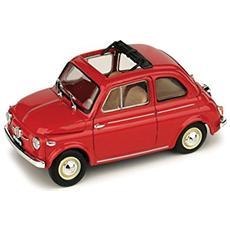 Bm0364-01 Fiat Nuova 500 Aperta 1959 Rosso Corallo 1:43 Modellino