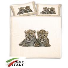 Copripiumino Matrimoniale 100% Cotone Cuccioli Tigrotti