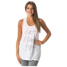 Canotta Donna Yoga Jersey L Bianco