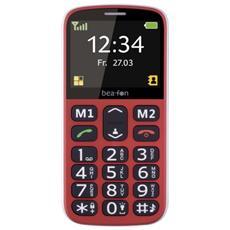 """SL340 Senior Phone Display 2.3"""" Micro SD Bluetooth con Tasti Grandi + SOS Fotocamera Colore Rosso RICONDIZIONATO"""