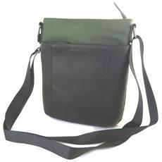 borsa a tracolla 'indispensable' verde scuro (1 scomparto) - 24x21x55 cm - [ n6577]