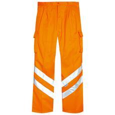 Pantalone Ad Alta Visibilità In Poliestere Colore Arancio Taglia 54