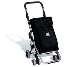 Carrello Portaspesa con Tasca Termica - Modello Go Up Nero