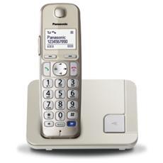 """KX-TGE210 Telefono Cordless Digitale Display 1,8"""" - Champagne"""