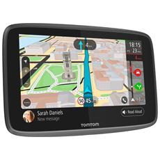 """Navigatore GPS GO 6200 Display 6"""" Memoria 16 GB Tutta Europa con aggiornamento gratuito a vita GPS Bluetooth e WiFi Nero e Grigio"""
