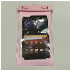Samsung Galaxy Note N7100 I9220 Custodia Subacquea Waterproof Bag Rosa