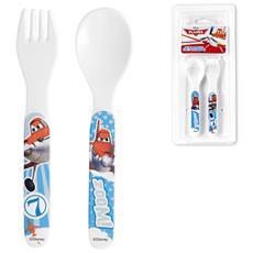 Confezione Cucchiaio Forchetta Melamina Disney Planes Mondo Baby