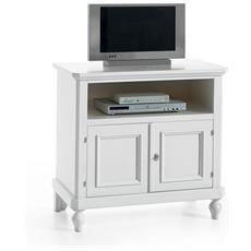 Porta Tv In Legno Colore Bianco