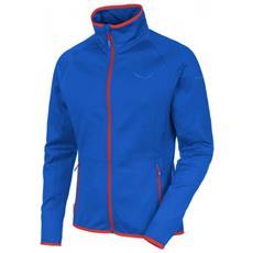Pile Uomo Predazzo Full Zip Blu Rosso 48