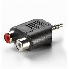 Adattatore ADJ 1 x 3.5mm Stereo Maschio con 2 x RCA Femmina Office Series Col. Nero