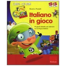 Italiano in gioco (Kit) . 44 giochi didattici per allenarsi con la lingua italiana. Con CD-ROM