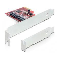 Controller SATA DeLOCK 89270 - Serial ATA / 600 - PCI Express x1 - Plug-in Card - Supporto RAID - 0, 1 Livello RAID - 2 Total SATA Port (s) - 2 SATA Port (s) Internal