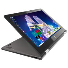 "Notebook 2 in 1 Mybook 360 Monitor 13.3"" IPS Full HD Multi Touch Intel Cherry Trail Z8350 Quad Core Ram 4 GB SSD 128 GB Slot SIM 4G 1xUSB 3.0 Windows 10 Pro"