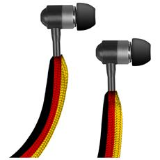 TECARIOCAGER SMARTPHONE Auricolare Stereo in-ear Carioca, jack 3,5 mm universale con tasto alla risposta, bandiera GERMANIA