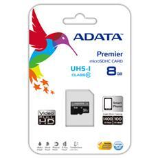 microSDHC, 8GB, Class 10, 0.25g, w / micro SD Adapter