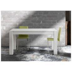Tavolo Di Design Allungabile Abete Bianco Spazzolato 160-260x90