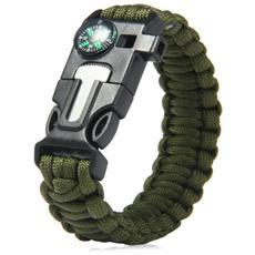 Bracciale Sopravvivenza Paracord Colore Verde Militare