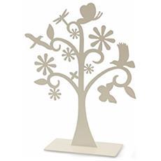 Easter Alberello Decorativo, Latta, Verde / fango / bianco, 14x5x20 Cm