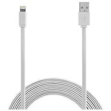 Apple Lightning cable 1,2m MFI Flat - White