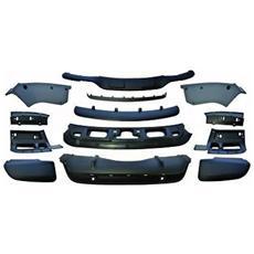 Kit estetico protezioni inferiori completo anteriore e posteriore Tuning BMW X5 E70 2010-2013 LCI Look M-Sport