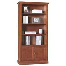Libreria In Legno 2porte+ripiani Da 90x41x186h