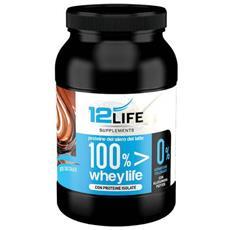 100% Whey Life Cioccolato Integratore Proteine Del Siero