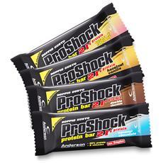 Proshock [ box Di 24 Barrette Da 60 G] Gusto Doppio Cioccolato- Barrette Proteiche