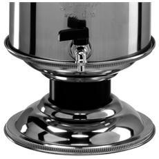 Contenitore e supporto in acciaio inox 5 Lt per olio tipo graffato
