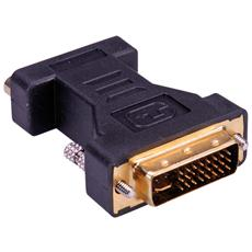 DVI-VGA Adapter, DVI M - HD15 F Nero cavo di interfaccia e adattatore