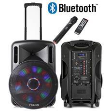"Cassa Acustica Amplificata Batterie 800w 15"""" Trolley Ricaricabile Bluetooth"