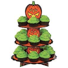 Alzatina Halloween In Cartone A 3 Piani Per Muffin E Cupcake