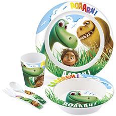 Confezione 5 Pezzi Bimbo Melamina Good Dinosaur Mondo Baby