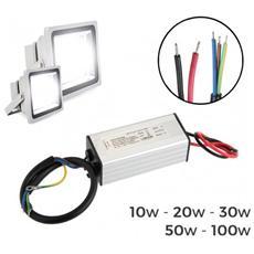 Alimentatore Led Driver Ricambio Per Fari A Led Trasformatore 10-20-30-50 O 100 Watt - 10 Watt