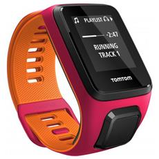 Runner 3 Cardio+music Dark Pink/orange S Cardiofrequenzimetro