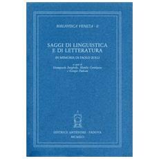 Saggi di linguistica e di letteratura in memoria di Paolo Zolli