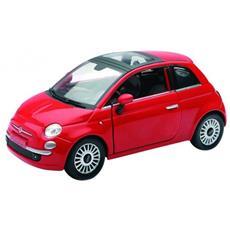 Newray-fiat 500 Rossa 1:24 Nuovo / scatola Originale Modello Di Auto Scatolo Rosso
