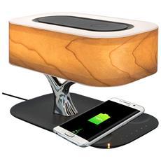 Caricatore Senza Fili Qi + Lampada Led + Altoparlanti Bluetooth 4smarts Bonsai