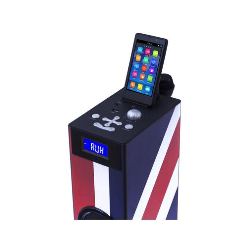 BIGBEN Interactive TW5 - Union Jack, 2.1, 20W, 3,5 mm, Apple 30-pin, USB A, LCD