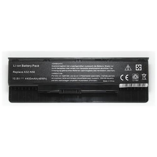 LI-TECH Batteria Notebook compatibile per ASUS N56VV 10.8V 11.1V 4400mAh nero computer 48Wh 4.4Ah