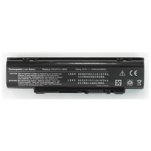 LI-TECH Batteria Notebook compatibile 5200mAh per TOSHIBA QOSMIO F60-158 pila 57Wh 5.2Ah
